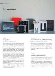Typo-Klassiker - Niggli Verlag