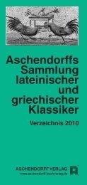 Aschendorffs Sammlung lateinischer und griechischer Klassiker