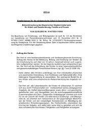 Empfehlungen für die pädagogische Arbeit in bayerischen Horten