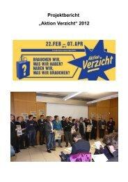 "Projektbericht ""Aktion Verzicht"" 2012"