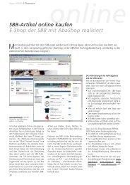 SBB-Artikel online kaufen - E-Shop der SBB - ABACUS Research AG