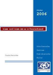 Islam und Islamismus in Deutschland - ZDK Gesellschaft ...