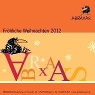 Fröhliche Weihnachten 2012 - Abraxas Buchhandlung