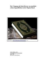 Der Umgang mit der heiligen Schrift im Islam - Theologiestudium