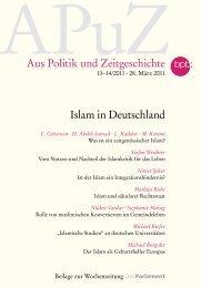 Islam in Deutschland - Bundeszentrale für politische Bildung