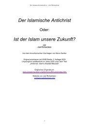 Der Islamische Antichrist Ist der Islam unsere Zukunft? - Crash-News