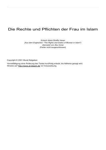 Die Rechte und Pflichten der Frau im Islam - Way to Allah
