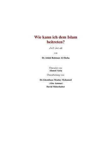 Wie kann ich dem Islam beitreten? - islam-greifswald