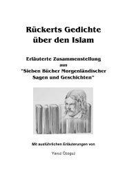 Rückerts Gedichte über den Islam - m-haditec Verlag