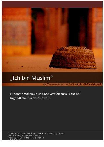 Ich bin Muslim» - Fundamentalismus und ... - Theologiestudium
