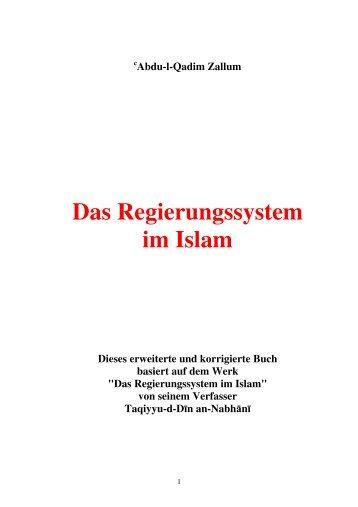 Das Regierungssystem im Islam - Kalifat.com