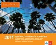 Spanisch, Französisch, Italienisch - Ernst Klett Verlag