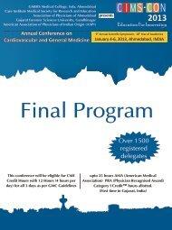 CIMS-CON 2013 Final Program for USA-1