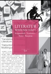 Literatur Katalog 2012 - LIT Verlag