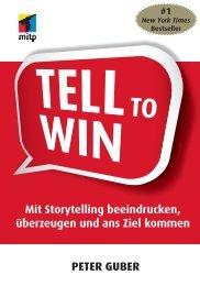 Tell to Win : Einleitung - Mitp