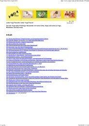 Yoga Vidya News April 2011
