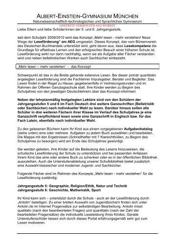 Elternhinweis (PDF) - Albert-Einstein-Gymnasium