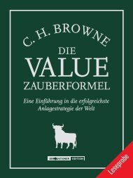 Die Value-Zauberformel - Financebooks.de