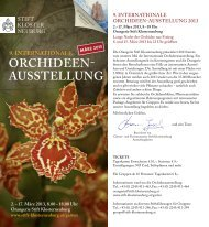 orchideen- ausstellung 9. internationale - Stift Klosterneuburg