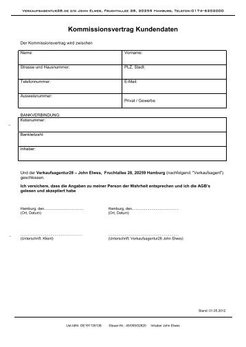 kommissionsvertrag