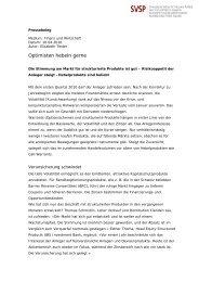 Finanz und Wirtschaft - Schweizerischer Verband für Strukturierte ...