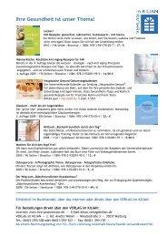 Ihre Gesundheit ist unser Thema! - Verlag im Kilian GmbH