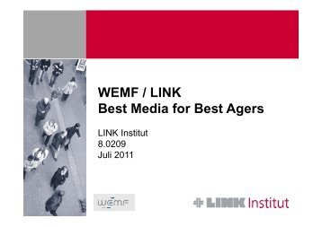 WEMF / LINK Best Media for Best Agers