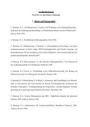Veröffentlichungen Prof. Dr. rer. pol. Heinz-J. Bontrup I. Bücher und ...