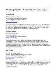Klassensatzliste 1 bis 4 - Stadt Rüsselsheim