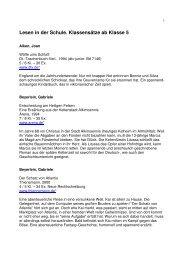 Klassensatzliste 5 bis 11 - Stadt Rüsselsheim