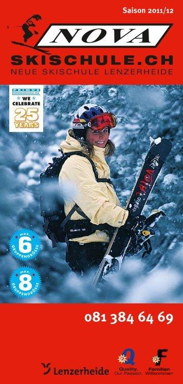 Prospekt Skischule NOVA 2011-12