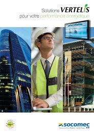 Solutions VERTELIS pour votre performance ... - SOCOMEC Group