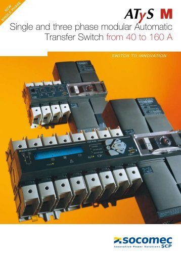 Single and three phase modular Automatic ... - Socomec Group