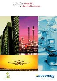 The availability of high quality energy - SOCOMEC Group