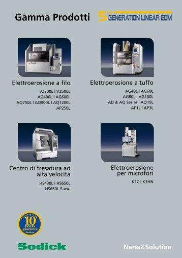 Product Range Brochure, 07/2011 - Sodick