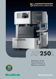 Spécifications AP250L - Sodick