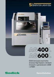 AG400L AG600L Nano&Solution - Sodick Europe Ltd.
