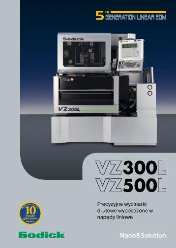 Specyfikacja VZ300L/VZ500L - Sodick