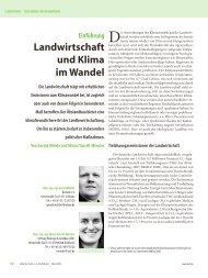 Landwirtschaft und Klima im Wandel - Stiftung Ökologie & Landbau