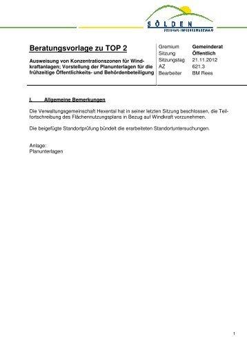 Anlage Beratungsvorlage TOP 2 - Teil 1 - Sölden