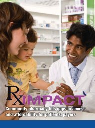 Community pharmacy fills gaps in access and affordability for patients, payers