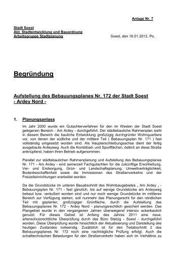 Anlage Nr. 7_Begründung zum Bebauungsplan Nr. 172 - Soest