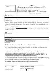 Antrag »Zuschuss gemeinschaftliches Mittagessen KITA« - Soest