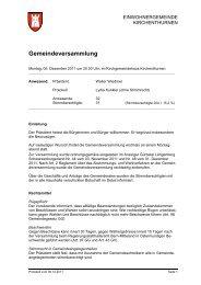 Gemeindeversammlung - Einwohnergemeinde Kirchenthurnen