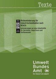 Risikominderung für Industriechemikalien - Umweltbundesamt