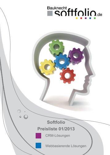 Softfolio Preisliste 01/2013 - Bauknecht Softfolio