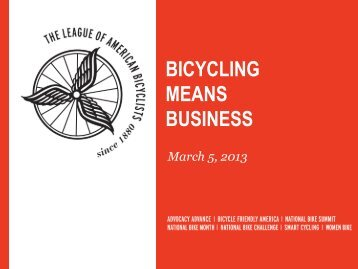 BICYCLING MEANS BUSINESS