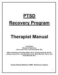 PTSD Recovery Program Therapist Manual