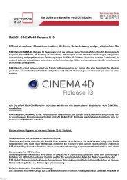 MAXON CINEMA 4D R13 Release als PDF  - Softwarebox GmbH