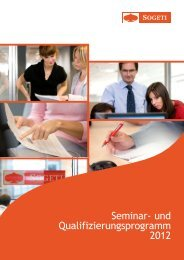 Seminar- und Qualifizierungsprogramm 2012 - Sogeti Deutschland ...